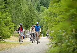 Cycling in the Gulf Islands, British Columbia