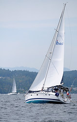 Sailing in the Gulf Islands, British Columbia