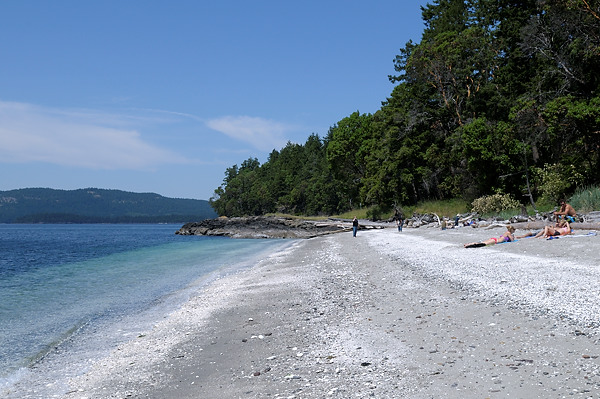 Shell Beach at Portland Island, Gulf Islands National Park Reserve of Canada