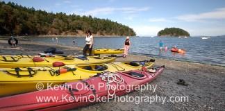 Kayaking at Bennett Bay, Mayne Island