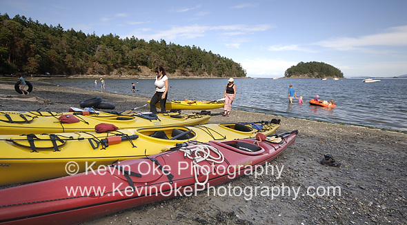 Kayaking at Bennett Bay, Mayne Island