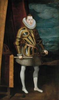 Juan Pantoja de la Cruz. Felipe III. Sala 56 del Museo del Prado