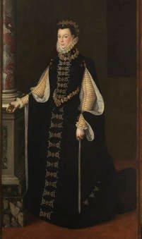 Sofonisba Anguissola. Isabel de Valois sosteniendo un retrato de Felipe II. Sala 56 del Museo del Prado