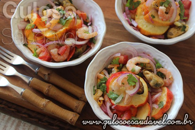 Receita de Ceviche de Caju com Frutos do Mar