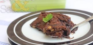 Receita de Brownie Simples de Chocolate e Banana