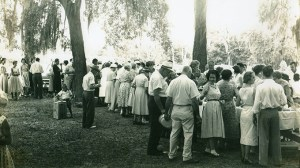 Gum Branch Baptist Church - Historical Image of a Gathering