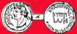 Медная монета с Кипра с изображением головы Клавдия