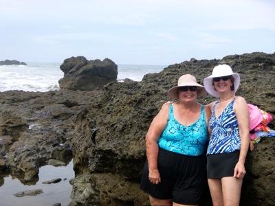 Alva and Ann on the Beach
