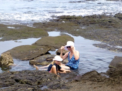 Playing with Boo in a Tidal Pool