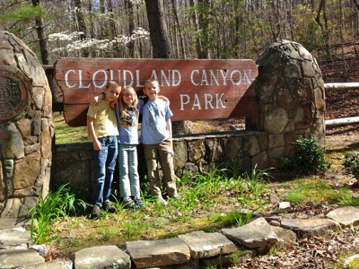 With Her Boys at Cloudland Canyon