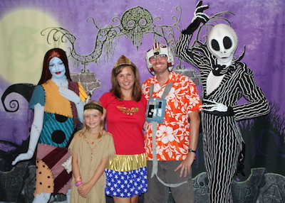 With the Nightmare Before Christmas Characters