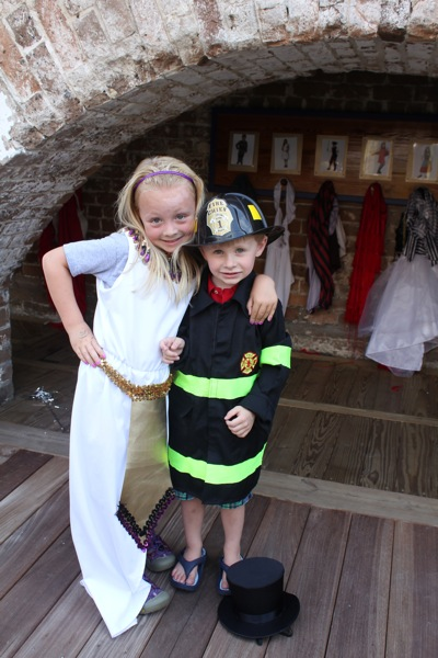 Egyptian Goddess and a Firefighter