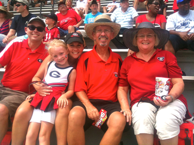 In Sanford Stadium