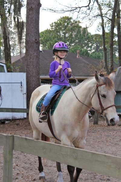 First Riding Lesson!