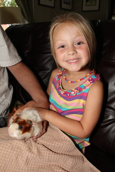 A Girl and Her Guinea PIg