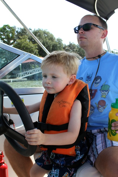 Driving the Boat