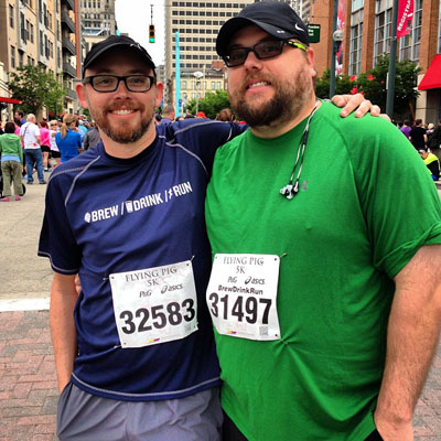 Lee and Trent run a 5K!