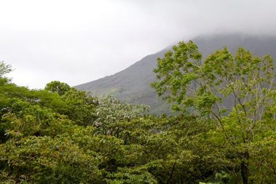 Arenal Obscured by Clouds