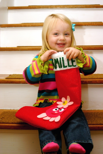 Camille and her stocking