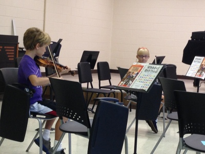 First Orchestra Rehearsal