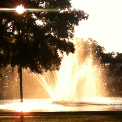 Fountain at Sunrise