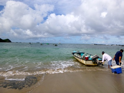 Launching from Playa San Juanillo
