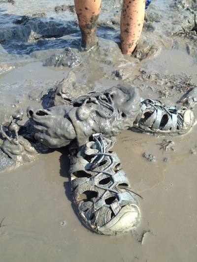 The World's Muddiest Shoes