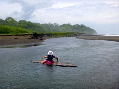 Paddling the Log Raft