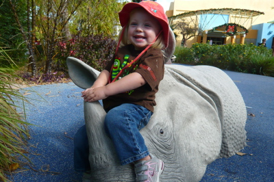 Rhino Cowgirl