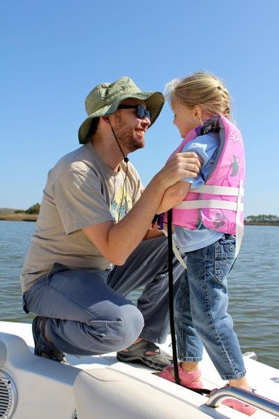 With Daddy on the Boat