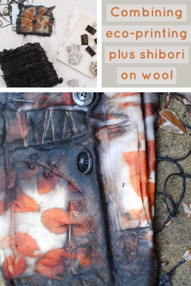 Find out more about combining eco-printing plus shibori on gumnutmagic.com