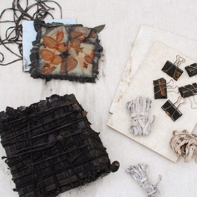 A method for shibori plus eco-printing on wool