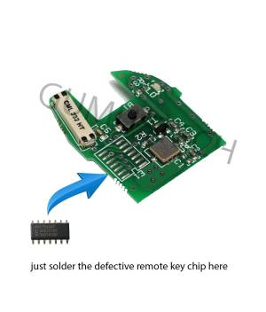 Renault Clio2 Remote RepairBoard-renault-clio2-symbol-kangoo-1button-repair-board-pcb-circuit-433mhz-pcf7946-id46-oem-original-after-market-front