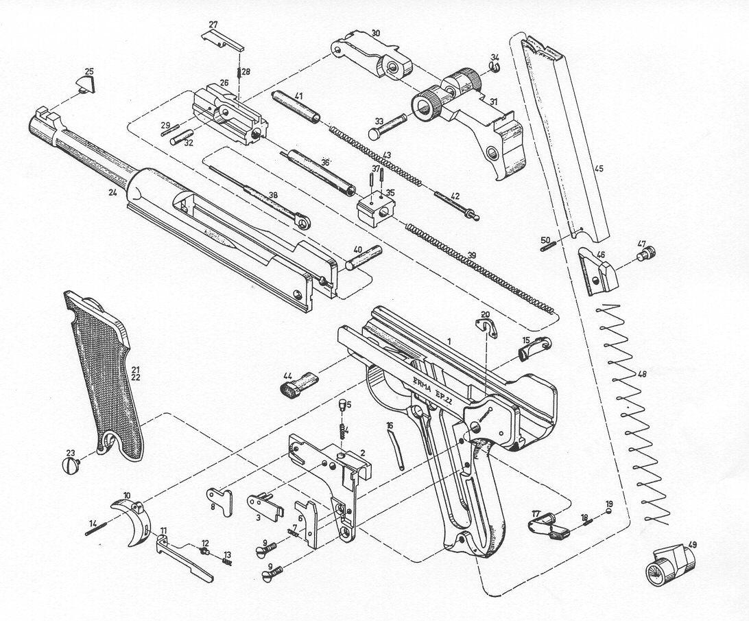 Erma German Factory Gun Parts Erma Factory Repair Parts