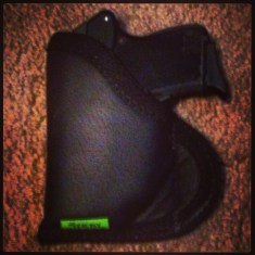 Sticky holster for KelTec with crimson trace