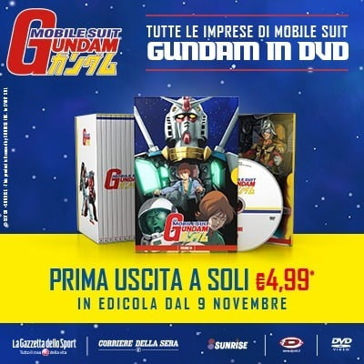 I DVD di Gundam in edicola