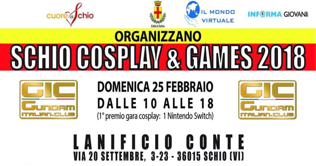 Il GIC a Schio Cosplay and Games 2018