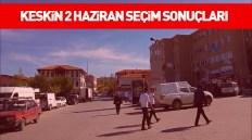 Kırıkkale Keskin 2 Haziran 2019 Seçim Sonuçları [ANLIK]