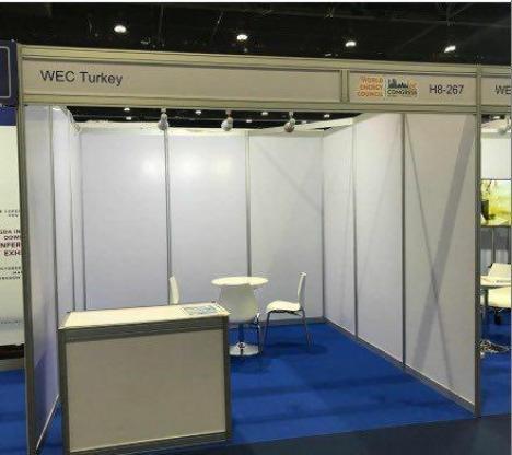 WEC 2019 Dubai'de ülkemize ait stand(Tertemiz bıraktığımız için teşekkür etmişlerdir diye düşünüyorum:))