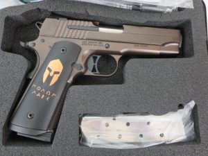 Un-Fired Sig Sauer 1911 Spartan .45 acp w/ extra magazine and case $1050