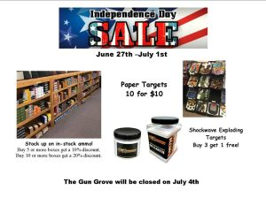 Independence Day Sale - This week only!