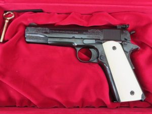 On Consignment:  Colt 1911 WW1 Presentation Grade .45 acp w/ case and box $1895