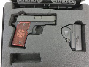 Used Sig Sauer P238 Texas Edition .380 w/ case $535