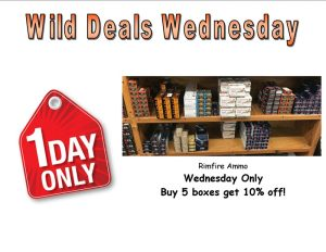 Wild Deals Wednesday - One Day Only - Rimfire Ammo Buy 5 boxes get 10% off!