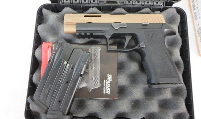 Used Sig Sauer P320 V-Tac 9mm w/ 2 extra magazines and case