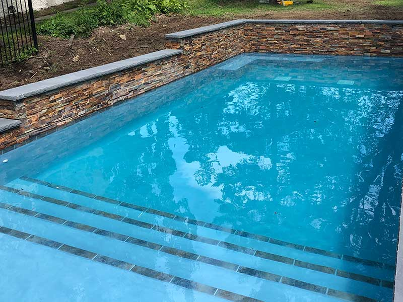 gunite swimming pool tile eastern