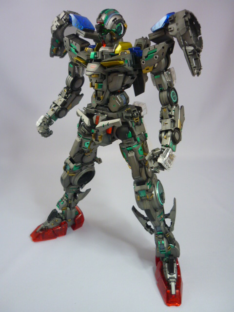 Pg 1 60 Gundam 00 Raiser Frame Painted With Clear Parts