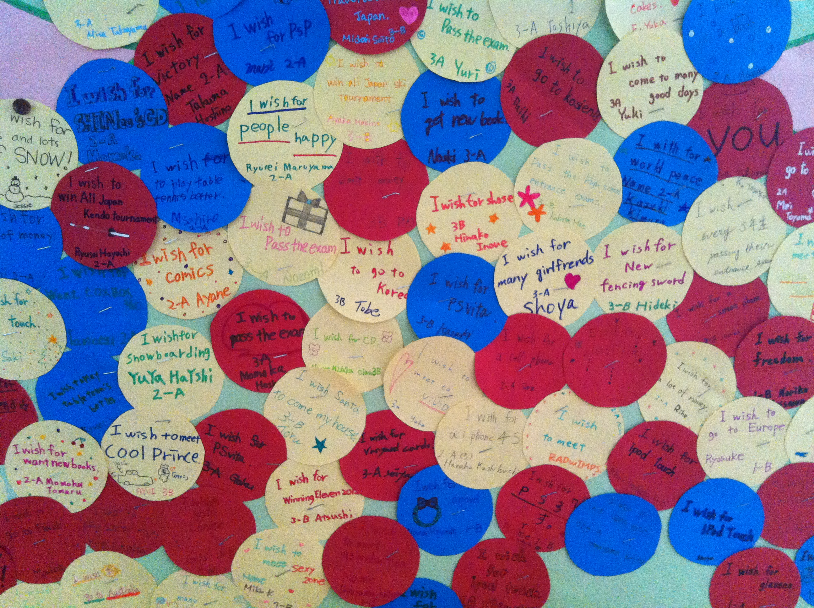 Students Think Of Their Christmas Wish And Write It In