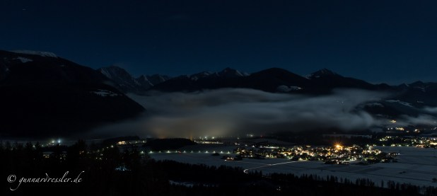 The Antholz valley hidden in the clouds, around midnights I