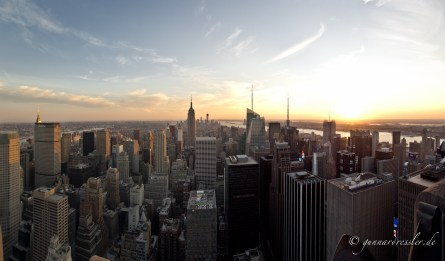 View from Rockefeller Center to Downtown Manhattan